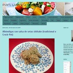 Pan, uvas y queso : Albóndigas con salsa de setas shiitake (tradicional o Crock-Pot)