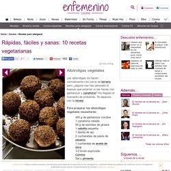 Receta: Albóndigas vegetales - 10 recetas vegetarianas rápidas y sencillas