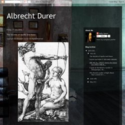 Albrecht Durer: The Secrets of Apollo and Diana