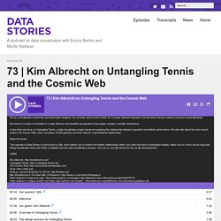 Kim Albrecht on Untangling Tennis and the Cosmic Web – Data Stories