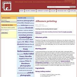 Albumen printing « Albumen Prints