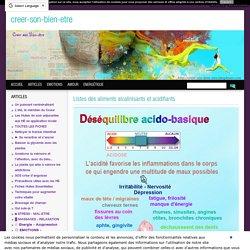 Listes des aliments alcalinisants et acidifiants