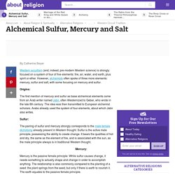 Alchemical Sulfur, Mercury and Salt