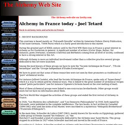 Alchemy in France today - Joel Tetard