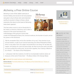 Alchemy, a Free Online Course