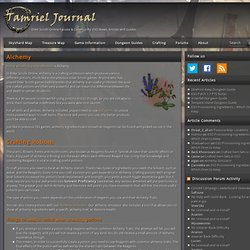 The Elder Scrolls Online Alchemy Guide - Tamriel Journal