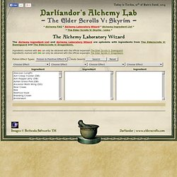 Skyrim Alchemy Laboratory Wizard - The Elder Scrolls V: Skyrim - Darliandor's Alchemy Lab