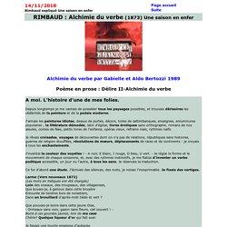 Alchimie du verbe d'Une saison en enfer de Rimbaud expliqué