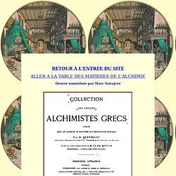 Les alchimistes grecs : 1ère partie.