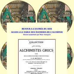 Les alchimistes Grecs : Introduction I.