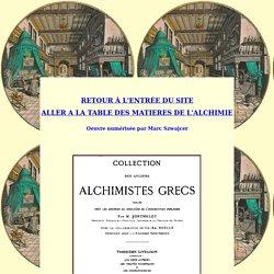 Les alchimistes grecs : 4ème partie : les oeuvres de Zosime