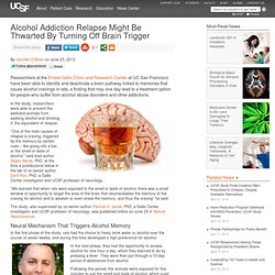 Alcohol Addiction Relapse Might Be Thwarted By Turning Off Brain Trigger