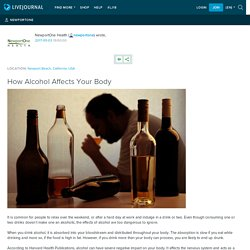 How Alcohol Affects Your Body: newportone