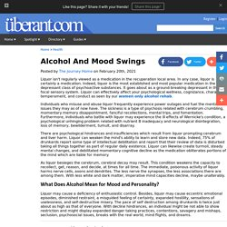 Alcohol And Mood Swings
