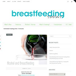 Alcohol and Breastfeeding - Breastfeeding Today