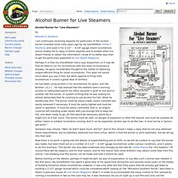 Alcohol Burner for Live Steamers - IBLS