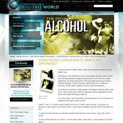 How Does Alcohol Affect the Brain? Effects of Alcohol on Teenagers - Drug-Free World