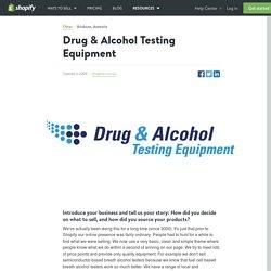 Drug & Alcohol Testing Equipment