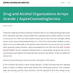Drug and Alcohol Organizations Arroyo Grande