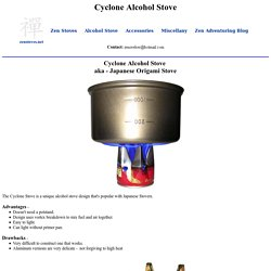 Zen Alcohol Stoves - Cyclone Alcohol Stove