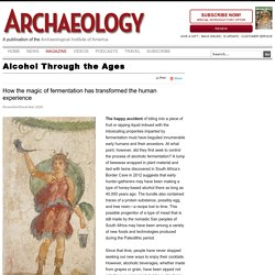 Alcohol Through the Ages