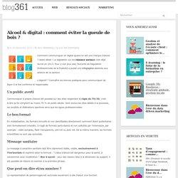 Alcool & web : comment communiquer ? Blog Groupe 361