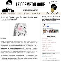 Alcool dans les cosmétiques : danger ou non — Le Cosmétologue