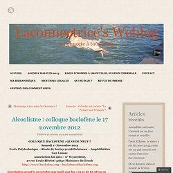 Alcoolisme : colloque baclofène le 17 novembre 2012