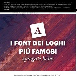 I font usati in alcuni dei loghi più famosi, spiegati bene - Grafigata!