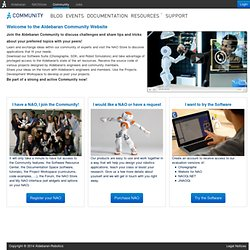Join Us and bring NAO to life! - NAO Developer Program