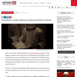 Sami Aldeeb : La partie médinoise du Coran et les Droits de l'Homme