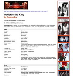Oedipus the King (March 2009)