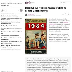 Huxley letter to Orwell about 1984