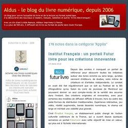 Aldus - le blog du livre numérique, depuis 2006: Applis