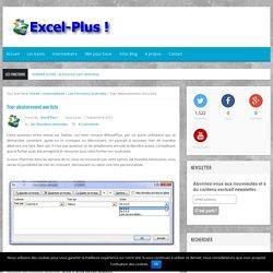 Tri aléatoire dans une liste sous Excel à l'aide de fonctions