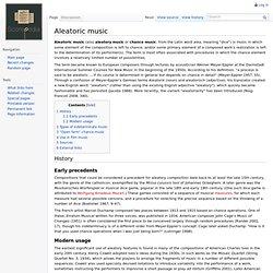 Aleatoric music - Scorepedia