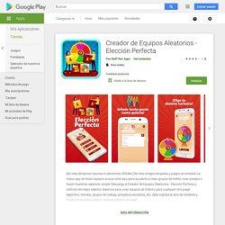 Creador de Equipos Aleatorios - Elección Perfecta - Aplicaciones en Google Play