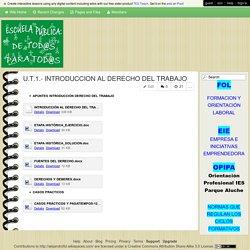 alejandrofol - U.T.1.- INTRODUCCION AL DERECHO DEL TRABAJO