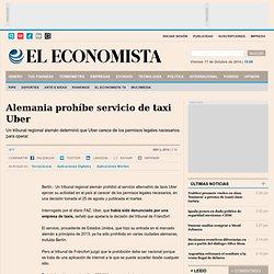 Alemania prohíbe servicio de taxi Uber