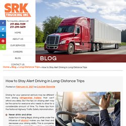 How to Stay Alert Driving in Long-Distance Trips