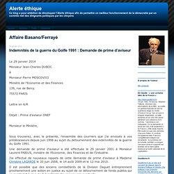 Alerte éthique: Affaire Basano/Ferrayé