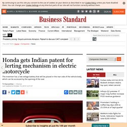 Honda gets Indian patent for alerting mechanism in electric motorcycle