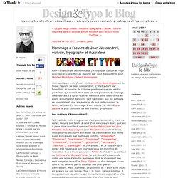 Hommage à l'oeuvre de Jean Alessandrini, écrivain, typographe et illustrateur