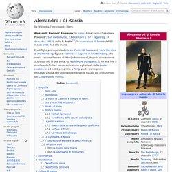 Russia - Alessandro I di Russia