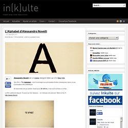 L'Alphabet d'Alessandro Novelli en typographie animée