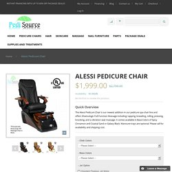 Alessi Pedicure Chair