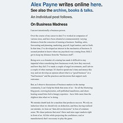 On Business Madness