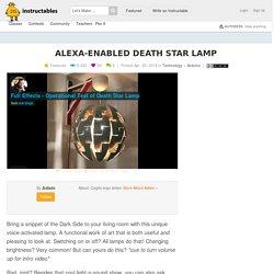 Alexa-Enabled Death Star Lamp