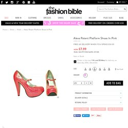 Alexa Patent Platform Shoes In Pink - from The Fashion Bible UK