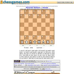 Berlin defense: Alekhine vs Poindle (1936)